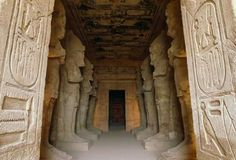 Interior of the Great Temple of Ramses II