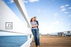 Santa Monica Pier Engagement Pictures