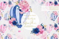 Indigo and Fucshia by Frou Fou Craft on @creativemarket