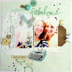 mint and linen.... JOT Mood board challenge. Kim Jeffress for Heidi Swapp