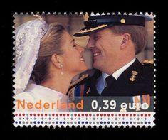 Prins  Willem-Alexander & Maxiama postzegel