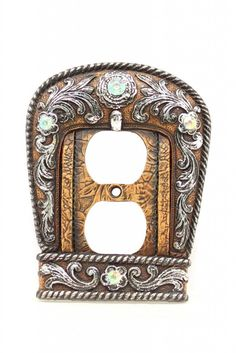 Western Moments Buckle Double Outlet Plate