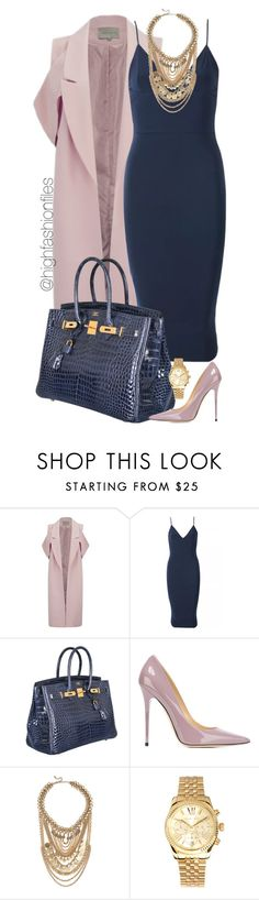 """Classy Lunch Date"" by highfashionfiles ❤ liked on Polyvore featuring Lavish Alice, Hermès, Jimmy Choo, Lulu*s and Michael Kors"