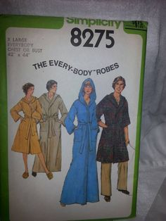 Preowned Pattern 1977 Simplicity 8275 Mens by VintageSewingShoppe