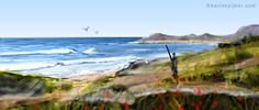 thumbnail digital sketch  seascape