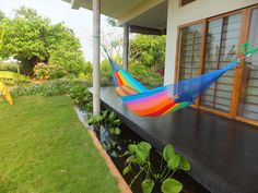 Multi-color Mexican Hammock!  Owning a hammock is now just a click away! Check out our range and order one today @ http://goo.gl/uFFFpN