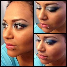 Today's look! Blue eyeshadow sephora! Makeup by: Emmy Soden  Follow me on Facebook!! Www.facebook.com/emmysodenavon