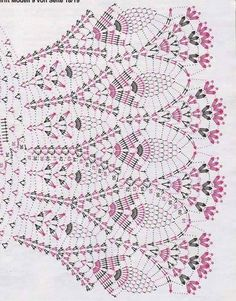 Crochet Skirt Irish lace, crochet, crochet patterns, clothing and decorations for the house, crocheted. Crochet Collar Pattern, Crochet Diagram, Crochet Chart, Crochet Motif, Crochet Lace, Crochet Stitches, Pattern Dress, Crochet Skirts, Crochet Poncho