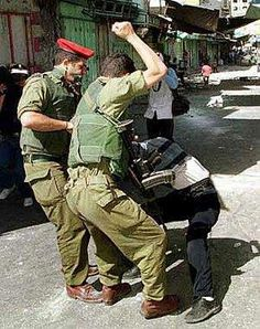The Israeli occupation forces version of human rights and justice....Welcome to BLEEDING Palestine..
