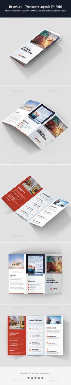 Transport Logistic Tri-Fold Brochure Template PSD - Download: https://graphicriver.net/item/brochure-transport-logistic-trifold/21781622?ref=ksioks