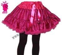 Plus size hot pink tutu skirt, girls red sequin pettiskirt, girls tutus IN STOCK