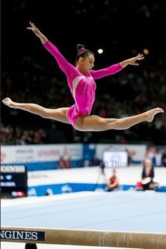 Kyla Ross~ I remember watching her at the Olympic trials in California! Wish I could still do a split jump like that!
