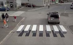 Islande : le passage piéton en 3D fait ralentir les automobilistes