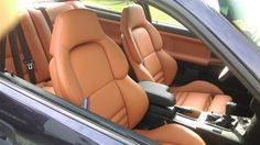 BMW e36 interior with camel vader seats