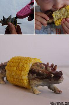 Dinosaur Corn Holder