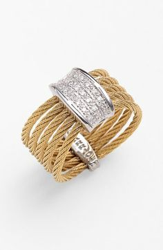 Charriol® 'Celtic Noir' 5-Row Diamond Ring available at #Nordstrom