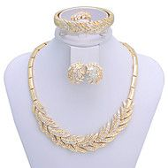 WesternRain Women's Gold-plated  Rhinestone  plume Jewelry Set Save up to 80% Off at Light in the Box using coupon and Promo Codes.