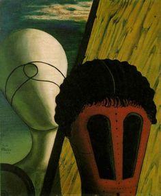 Surrealism; Giorgio de Chirico / De Chirico - The Two Sisters (The Jewish Angel)