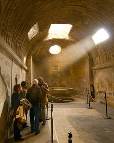 Bath House in Pompeii, Italy