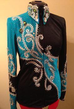 Turquoise/black showmanship jacket for sale