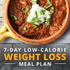 The free 7-Day Low- Calorie Weight Loss Meal Plan takes the stress out of meal planning when you are trying to kickstart weightloss. #lowcaloriemeals #weightlossmealplan
