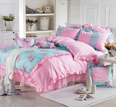 100% cotton Sweet pink dots 1.2M/1.5M/1.8M bed Princess bow bedspread comforter cover bedding set Twin/Full/Queen/King/B3019-in Bedding Sets from Home & Garden on Aliexpress.com   Alibaba Group