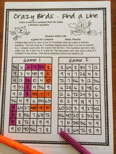 FREEBIES - Fun Games 4 Learning: Division NO PREP Math Games