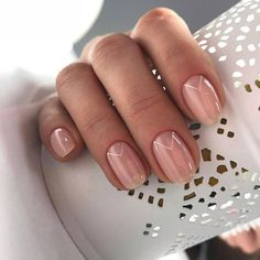 Natural Wedding Nails, Wedding Day Nails, Wedding Nails Design, Natural Nails, Easy Nails, Simple Nails, Cute Nails, Pretty Nails, Short Nails Shellac