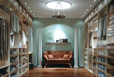 My future closet.  Couch included for when I get exasperated from looking at my clothes & shoes collection. :)