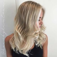 Layered Haircut with Blonde Babylights