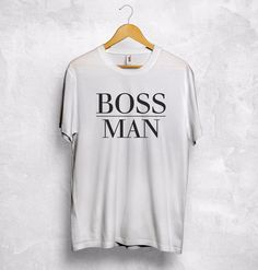 >> Click to Buy << BOSS Man Lady T Shirt Girlfriend Wife Gift Valentines Hubby Husband Boyfriend 2017 Summer Men'S Brand Clothing O-Neck  T-Shirt #Affiliate