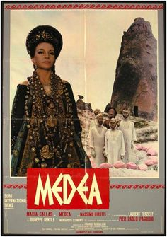 Publicity poster of 'Medea', dir. Pier Paolo Pasolini, 1969