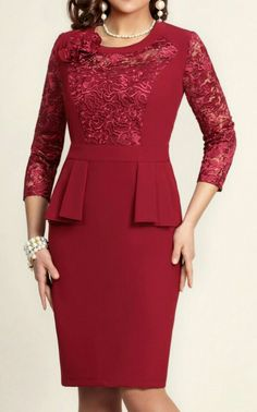 Simple Dresses, Beautiful Dresses, Dresses For Work, Formal Dresses, African Fashion Dresses, Fashion Outfits, Womens Fashion, Mom Dress, Lace Dress
