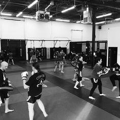 Saturday morning Muay Thai class with coach Katie. The Academy. Brooklyn Center, Minnesota. Muay Thai, BJJ, FMA, Judo, JKD, Self Defense, Mixed Martial Art www.theacademymn.com/ @mmaacombatzone #theacademymn #teamacademy #theacademy #martialarts #martialartsgyms