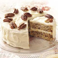 "Vermont Maple-Pecan Cake Review say it falls VERY easily. One review said they altered the recipe ""added 2 eggs, and also a half teaspoon of baking powder, cake rose great and was super moist, I also doubled the recipe!"""