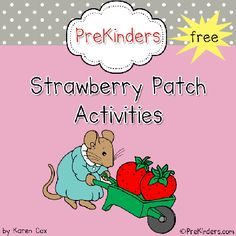 Free Strawberry Patch field trip printable packet from www.prekinders.com Goes well with a plants and growing theme too! #preschool #spring #printables