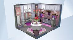 Confira este cômodo na Galeria do The Sims 4! - Woman's closet dressingroom. #closet #dressingroom #ladies #womans #girls #girly #cute #lovely #pink #pretty #girl #vanity
