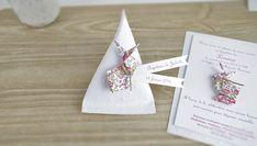 10 Boîte à dragées berlingot lapin en origami liberty Eloise