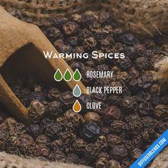 Blend Recipe: 3 drops Rosemary, 1 drop Black Pepper, 1 drop Clove