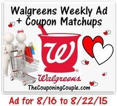 Here is the NEW Walgreens Ad for 8-16 to 8-22-15 with Coupon Matchups. MONEYMAKER Colgate Optic White Toothpaste + Lot's of Other GREAT Deals!  Click the link below to get all of the details ► http://www.thecouponingcouple.com/walgreens-ad-for-8-16-to-8-22-15-coupon-matchups/  #Coupons #Couponing #CouponCommunity  Visit us at http://www.thecouponingcouple.com for more great posts!