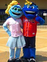Roxie and Romey, Rome Braves mascots; South Atlantic League
