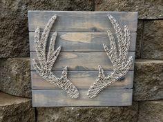 Deer Antlers -String Art, Farmhouse decor