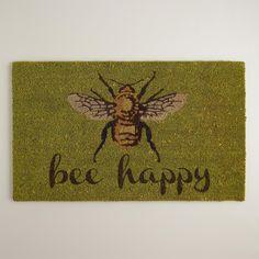 Bee Happy Doormat   World Market