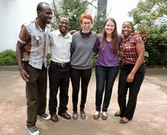 HALO intern, Rachel spent 6 weeks in Uganda this summer working at our five HALO homes. Rachel, middle, is pictured with HALO ambassador,Mary and her Ugandan co-workers, Asiimwe, Simon, and Molly.
