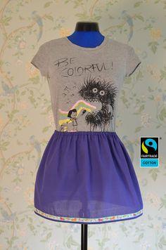 Röcke - Fairtrade Rock lila mit Einhörner-Borte, fair bio - ein Designerstück von FairTale bei DaWanda