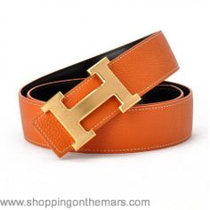 Best seller Reversible Clemence Leather Hermes belt with h gold buckle  119  Cinturones 9bfd1b55a39c