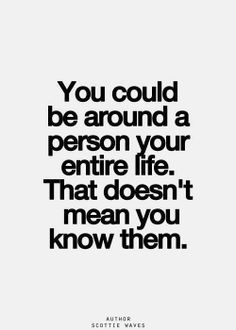 Knowing someone...