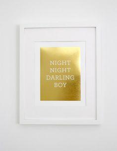 Darling Boy Print // Gold Foil