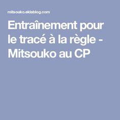 Entraînement pour le tracé à la règle - Mitsouko au CP