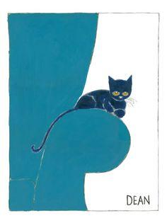 Pete the Cat - Little Pete on the Blue Armchair; James Dean